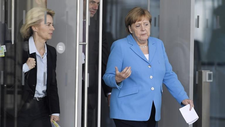 Канцлерът на Германия Ангела Меркел е казала пред съюзниците от