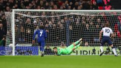 Полуфинал за Купата на Лигата: Тотнъм - Челси 1:0, Хари Кейн открива резултата от дузпа!