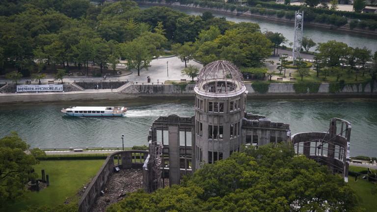 С камбанензвън Хирошима, Япония, отбелязва 75-годишнината от пускането на първата