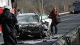 Жесток челен удар уби шофьор и затвори Е79 край Благоевград