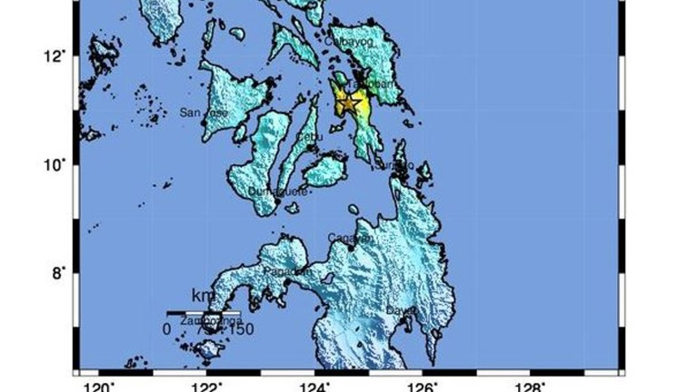 Земетресение 6,5 по Рихтер разлюля Филипините