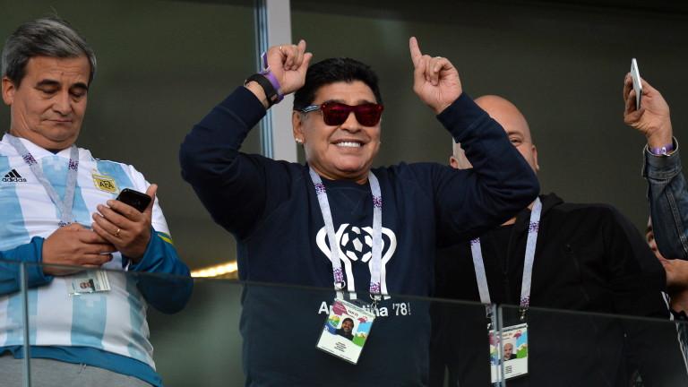 Марадона пристигна в Беларус, взима цялата власт в Динамо (Брест)