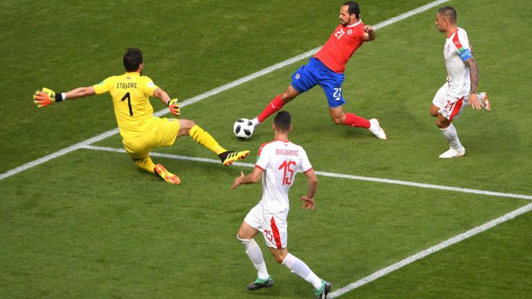 Коста Рика 0 : 0 Сърбия 12′ След изпълнение на