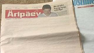 Вестниците в Естония излязоха с празни страници