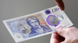 Британските 20 паунда имат нов облик