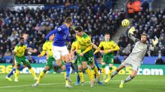 Лестър стъпи накриво срещу Норич и остана на 10 точки от Ливърпул