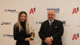 Министър Кралев награди атлет №1 на България за 2020 година Габриела Петрова