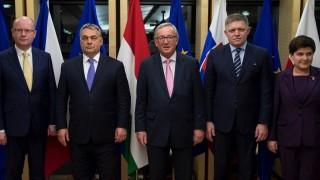 Юнкер вечеря с лидерите на Вишеградската четворка