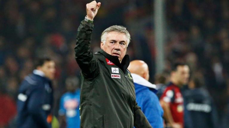 Треньорът на Наполи Карло Анчелотикоментира ситуацията в италианското футболно първенство.