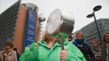 Протести срещу СЕТА в Брюксел