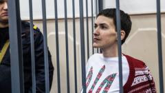 Гладуващата Надежда Савченко е приета в болница