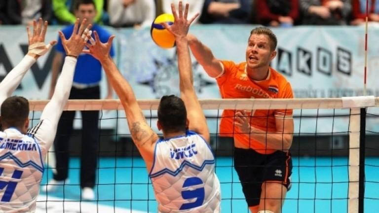 Националният отбор по волейбол на Холандия записа победа и две