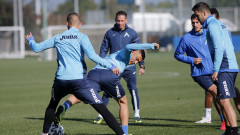 Живко Миланов води днешната тренировка в Левски