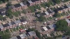 Силна газова експлозия събори жилища в Балтимор