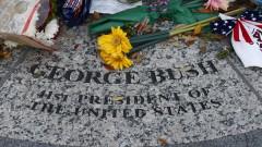 Буш-старши ще бъде погребан до жена си