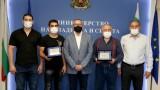 Министър Кузманов награди Рухан Расим за бронзовия медал от Европейското първенство по борба до 23 г.