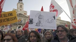 В над 50 испански града хиляди излязоха на протести срещу сделката ЕС-Турция