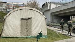 В Стара Загора военни опънаха палатки за членовете на СИК