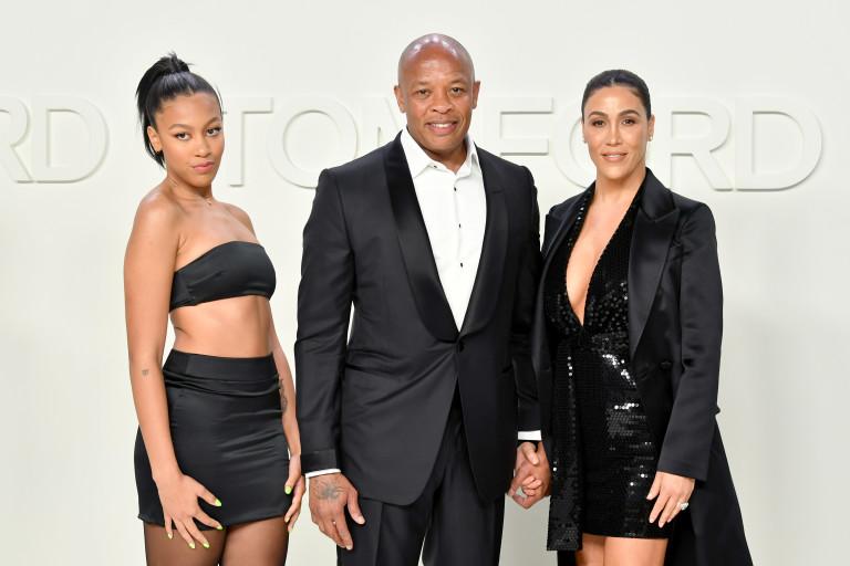 Dr. Dre със съпругата си Никол и дъщеря им