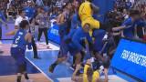 Световна квалификация по баскетбол беше белязана от масов бой