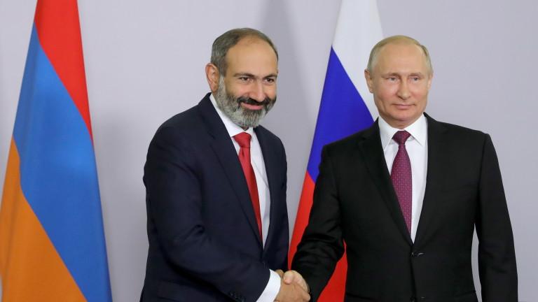 Путин притеснен от екстремистите от Близкия изток в Нагорни Карабах