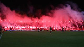 Феновете на ЦСКА качиха видео от шоуто, което направиха срещу Лудогорец