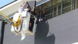 Ново, модерно табло на стадиона в Благоевград