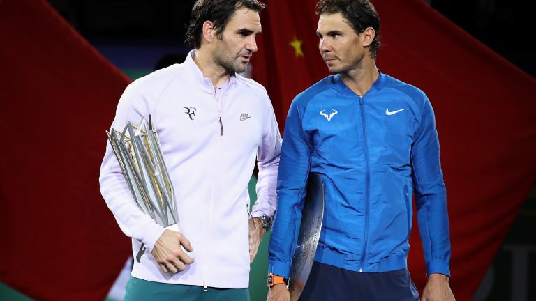 Роджър Федерер и Рафаел Надал се изправят един срещу друг