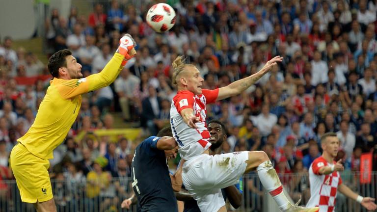 Франция 4 : 2 Хърватия 71′ Смяна за хърватите. Анте