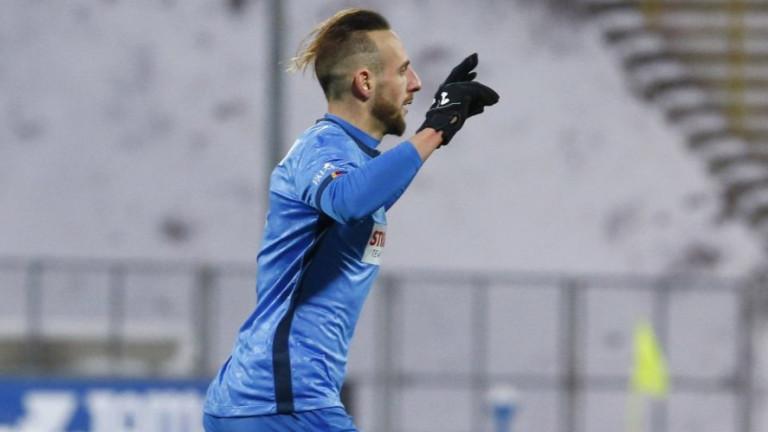 Напуснал Левски с два гола в Португалия