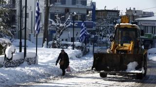 Атина е покрита със сняг, докато Гърция е скована от рекордно студено време