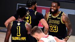 ЛА Лейкърс е на две победи от рекордна титла в НБА