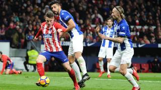 Атлетико (Мадрид) подгони Барселона след измъчен успех над Алавес