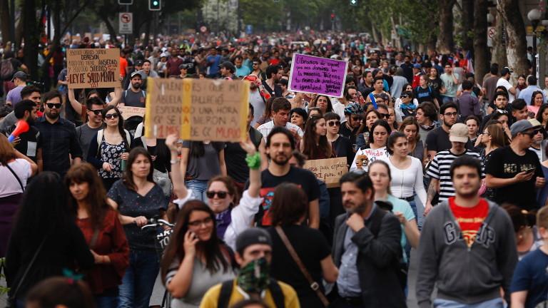Милиони чилийци протестират за пореден ден