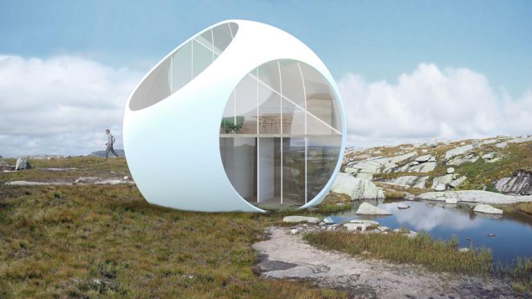 Компанията Cloud Architectsе проектирала сглобяема сферична къща с площ 515