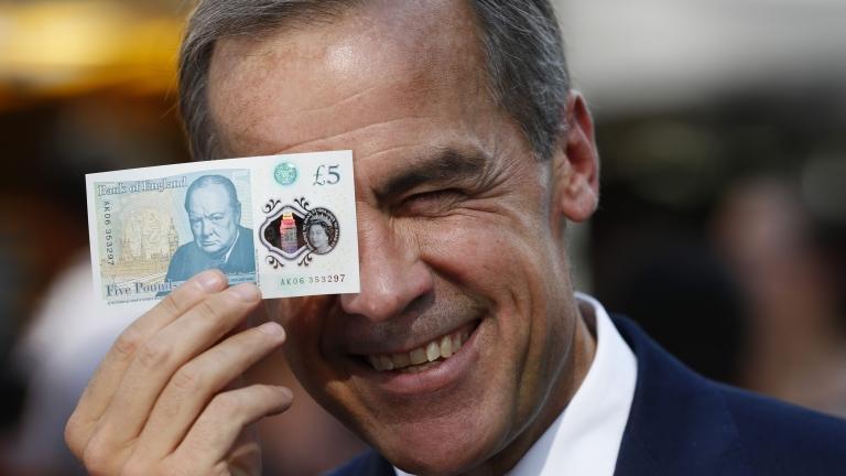 Марк Карни - управителят на централната банка на Великобритания, се