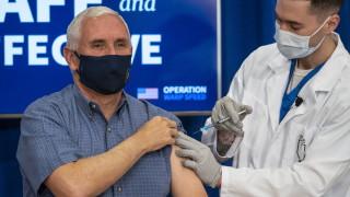 Майк Пенс се ваксинира срещу COVID-19 на живо по телевизията