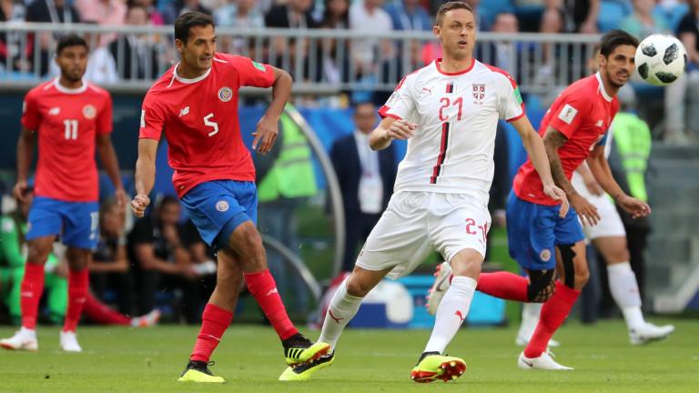 Коста Рика 0 : 0 Сърбия 45+2′ Край на първата