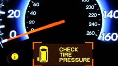 Уред в купето да следи налягането на гумите