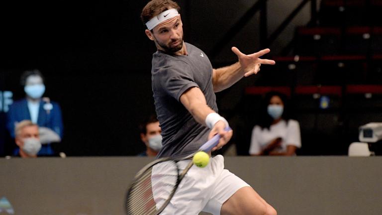 Григор Димитров на 1/4-финал във Виена след победа срещу Стефанос Циципас