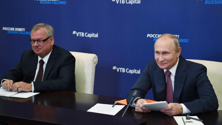 Андрей Костин, съюзник на руския лидер Владимир Путин и директор