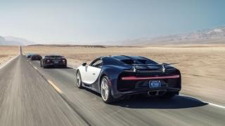 Супер колата Bugatti Chiron в Долината на смъртта (ВИДЕО)
