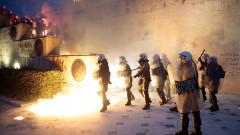 Сблъсъци пред гръцкия парламент