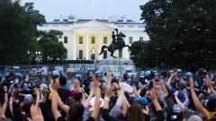 Протестиращи опитаха да съборят статуята на бивш президент на САЩ край Белия дом