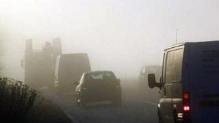 """Мъгла намалява видимостта на АМ """"Хемус"""""""