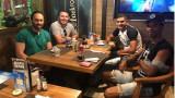 Жуниор Брандао вечеря с Рафаел Енрике