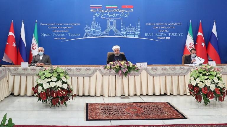 Иран, Русия и Турция, които подкрепят противникови страни във войната