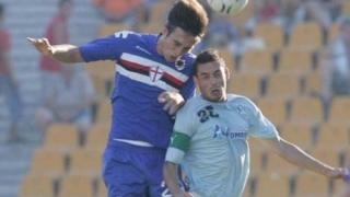 Черно море загуби с 0:1 от Сампдория, едва не прекратиха мача в Бургас