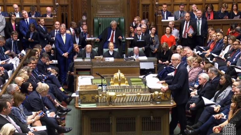 Премиерът на Великобритания Борис Джонсън и лидерът на опозицията Джереми
