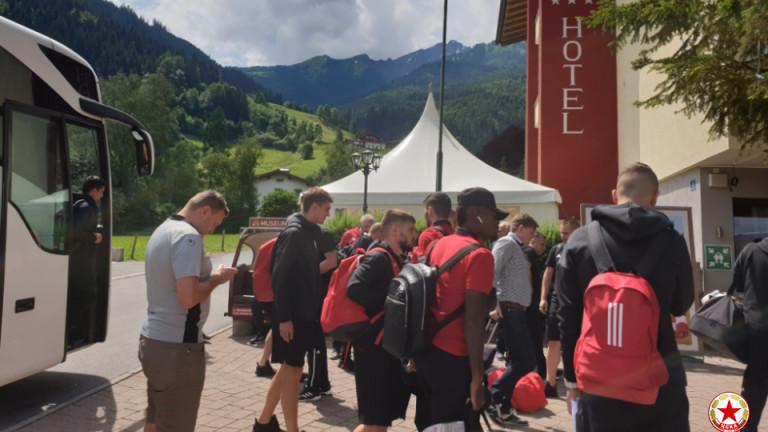 Отборът на ЦСКА вече е в Австрия и се настани